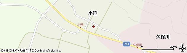 山形県上山市小笹11周辺の地図