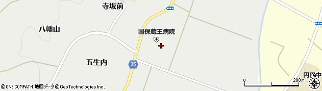 宮城県蔵王町(刈田郡)円田(和田)周辺の地図