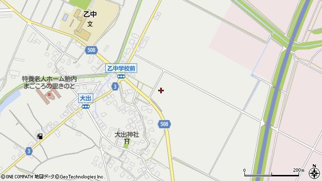 〒959-2604 新潟県胎内市大出の地図