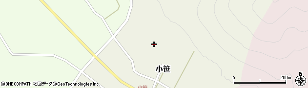 山形県上山市小笹1周辺の地図