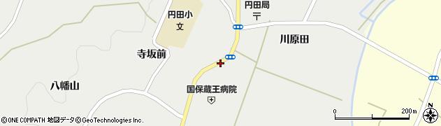 宮城県蔵王町(刈田郡)円田(糀川)周辺の地図