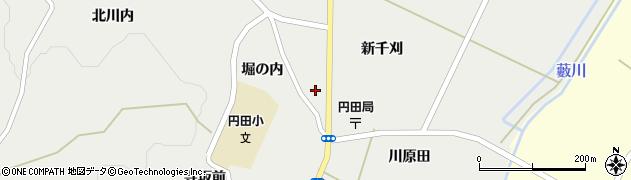 宮城県蔵王町(刈田郡)円田(千刈田)周辺の地図