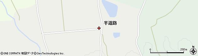 山形県上山市三上半道路周辺の地図
