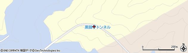 黒獅子トンネル周辺の地図