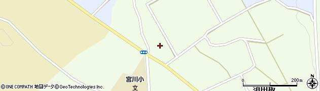 山形県上山市須田板下新田周辺の地図