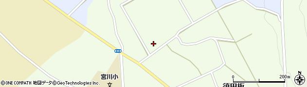 山形県上山市須田板(中田)周辺の地図