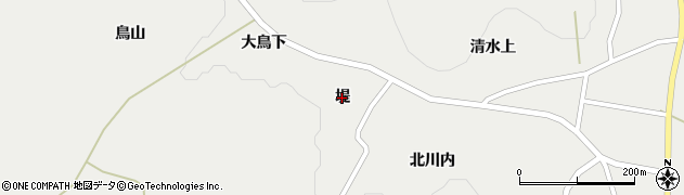宮城県蔵王町(刈田郡)円田(堤)周辺の地図