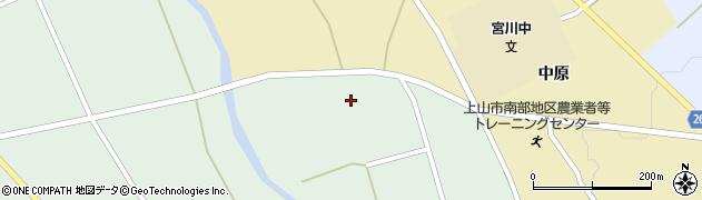 山形県上山市皆沢京塚1027周辺の地図
