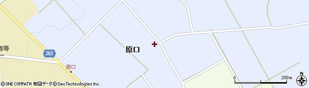 山形県上山市原口道ハタ周辺の地図