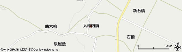 宮城県蔵王町(刈田郡)円田(大柿内前)周辺の地図