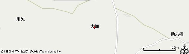 宮城県蔵王町(刈田郡)円田(大畑)周辺の地図