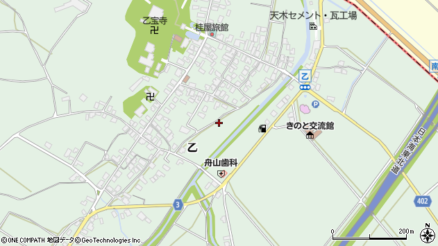 〒959-2602 新潟県胎内市乙の地図