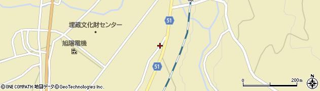 山形県上山市中山1448周辺の地図