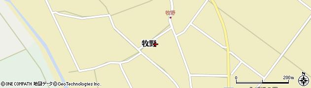 山形県上山市牧野86周辺の地図