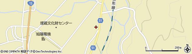 山形県上山市中山揚橋1244周辺の地図
