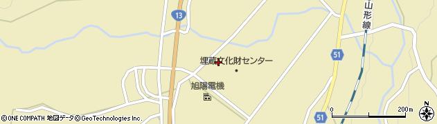 山形県上山市中山(壁屋敷)周辺の地図