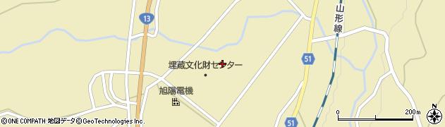 山形県上山市中山壁屋敷周辺の地図