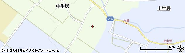 山形県上山市中生居9周辺の地図