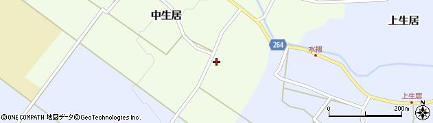 山形県上山市中生居13周辺の地図