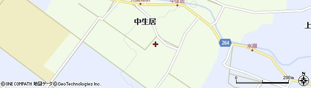 山形県上山市中生居634周辺の地図