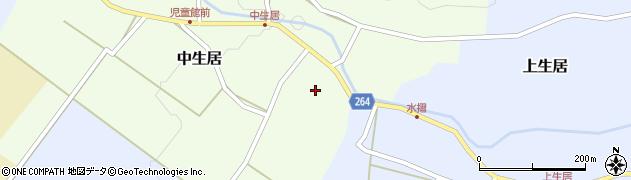 山形県上山市中生居15周辺の地図