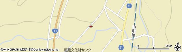 山形県上山市中山明神町2743周辺の地図