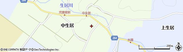 山形県上山市中生居33周辺の地図