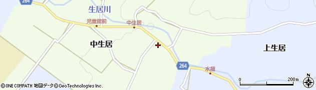 山形県上山市中生居24周辺の地図