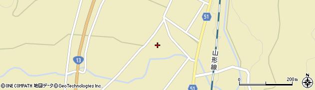 山形県上山市中山明神町周辺の地図