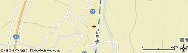 山形県上山市中山2820周辺の地図