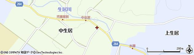 山形県上山市中生居戸ノ内32周辺の地図