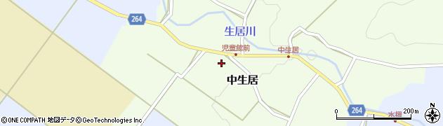 山形県上山市中生居614周辺の地図