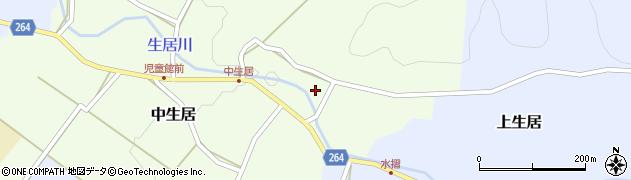 山形県上山市中生居120周辺の地図