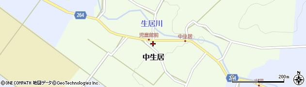 山形県上山市中生居626周辺の地図