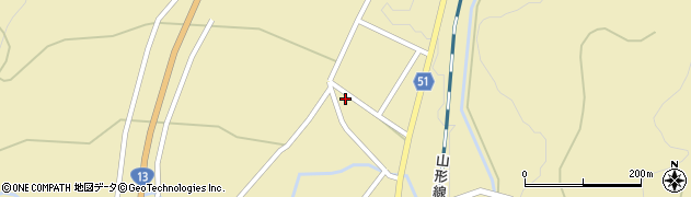 山形県上山市中山2724周辺の地図