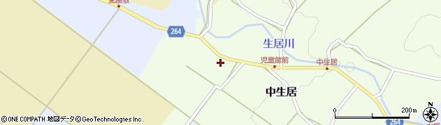 山形県上山市中生居25周辺の地図