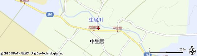山形県上山市中生居60周辺の地図