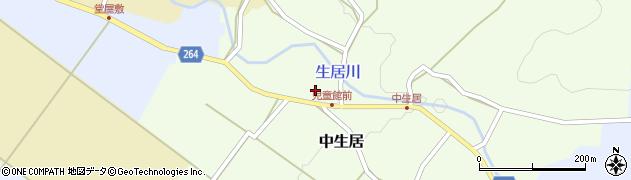 山形県上山市中生居64周辺の地図