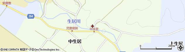 山形県上山市中生居101周辺の地図