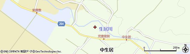 山形県上山市中生居77周辺の地図