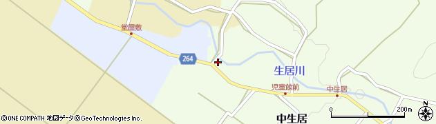 山形県上山市下生居1周辺の地図