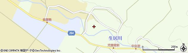 山形県上山市中生居竹ノ入周辺の地図