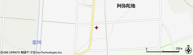 山形県上山市阿弥陀地9周辺の地図