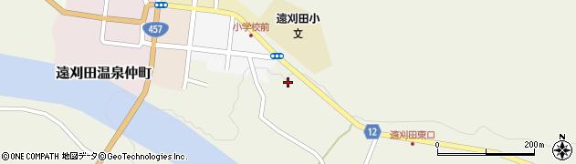 宮城県蔵王町(刈田郡)遠刈田温泉(遠刈田)周辺の地図