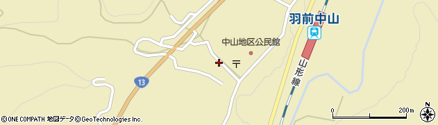 山形県上山市中山3144周辺の地図