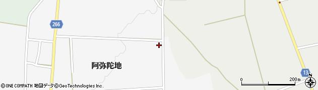 山形県上山市阿弥陀地1036周辺の地図