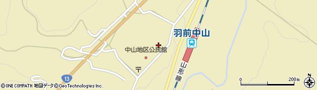 山形県上山市中山3166周辺の地図