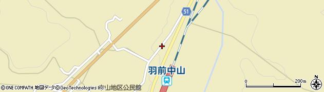 山形県上山市中山3581周辺の地図