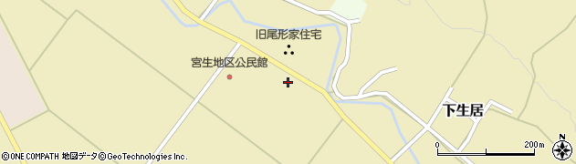 山形県上山市下生居527周辺の地図