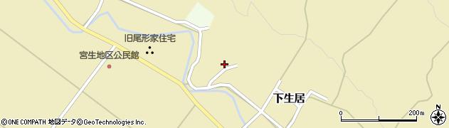 山形県上山市下生居818周辺の地図